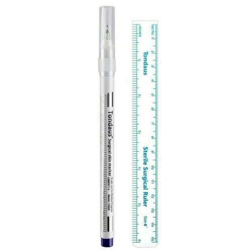 2PK Tondaus Tattoo Surgical Marker with Purple Ink