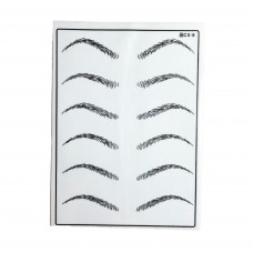 Artificial leather Training Mat For Eyebrows PMU